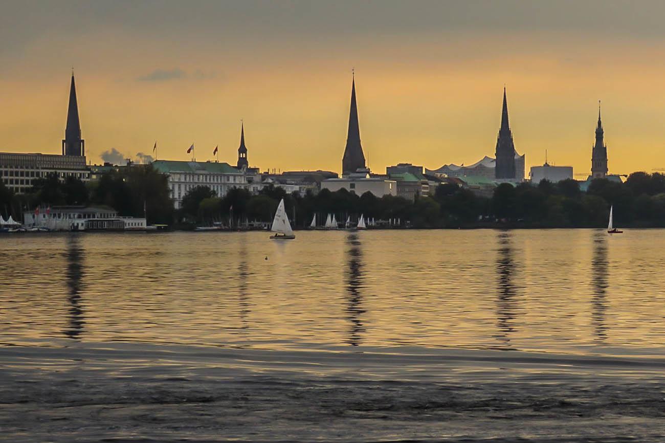 Hamburg Abendstimmung